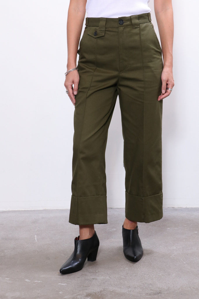 Rachel Comey Maine Pant in Olive Organic Chino