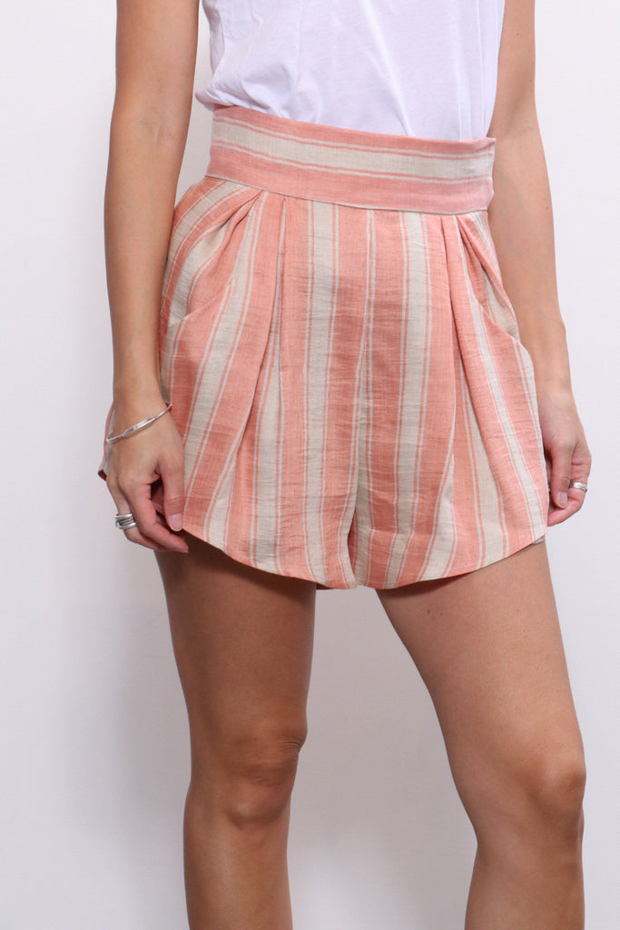 Rachel Comey Oblige Short in Blush High Line Strip - WE ARE ICONIC