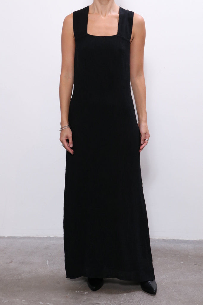 Raquel Allegra Apron Dress in Black