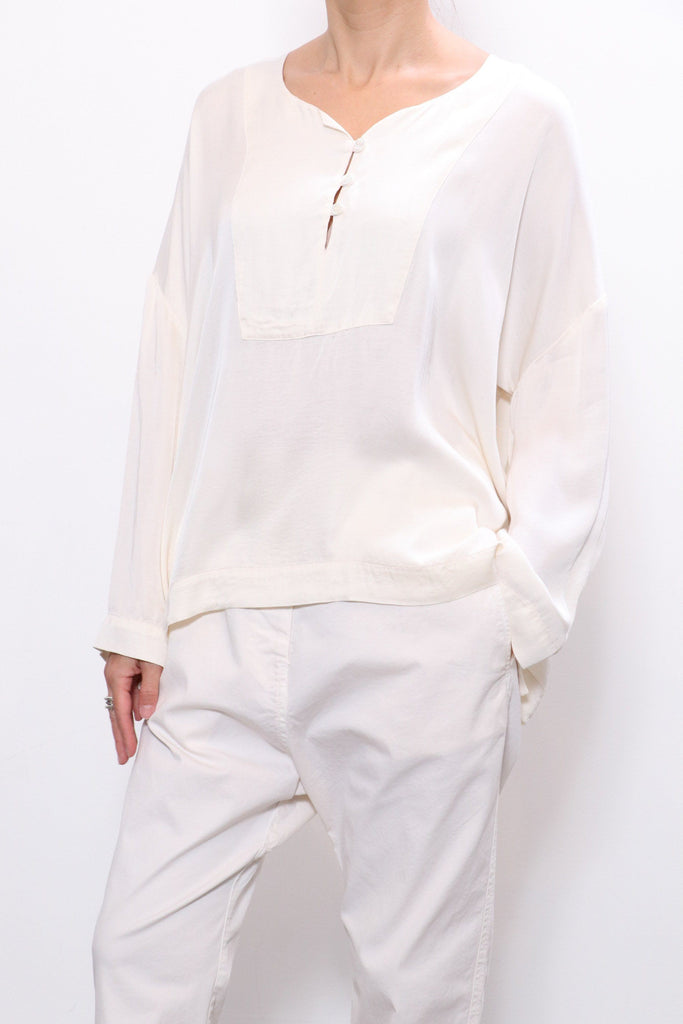 Raquel Allegra Caftan Blouse in Cream