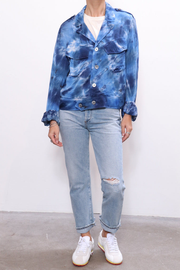 Raquel Allegra Cargo Jacket in Tie Dye - WE ARE ICONIC
