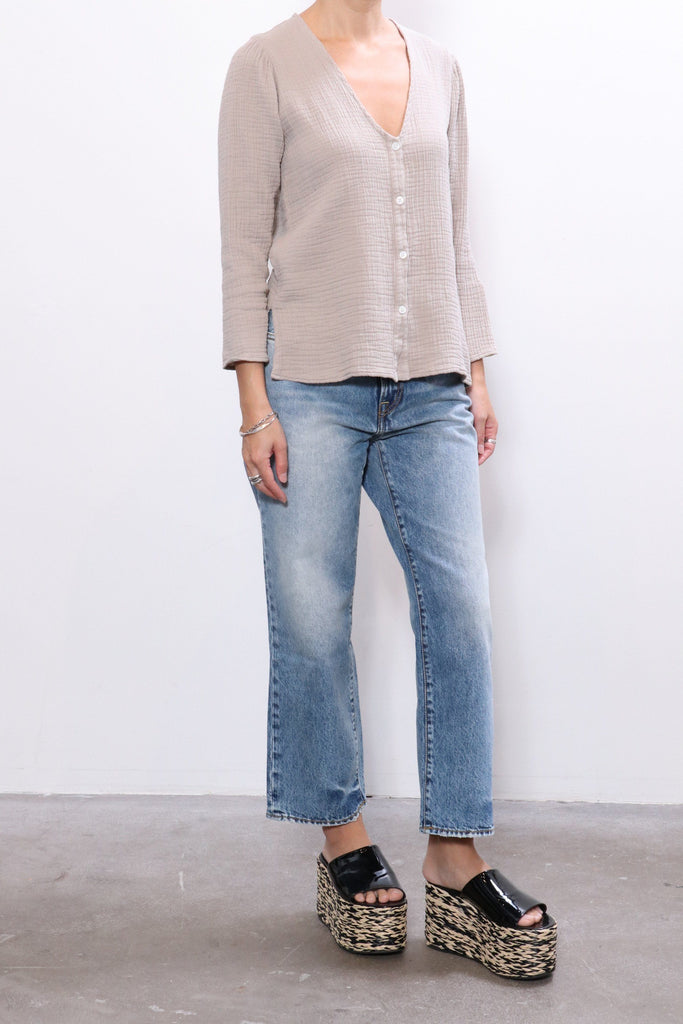 Raquel Allegra Country Blouse in Sand