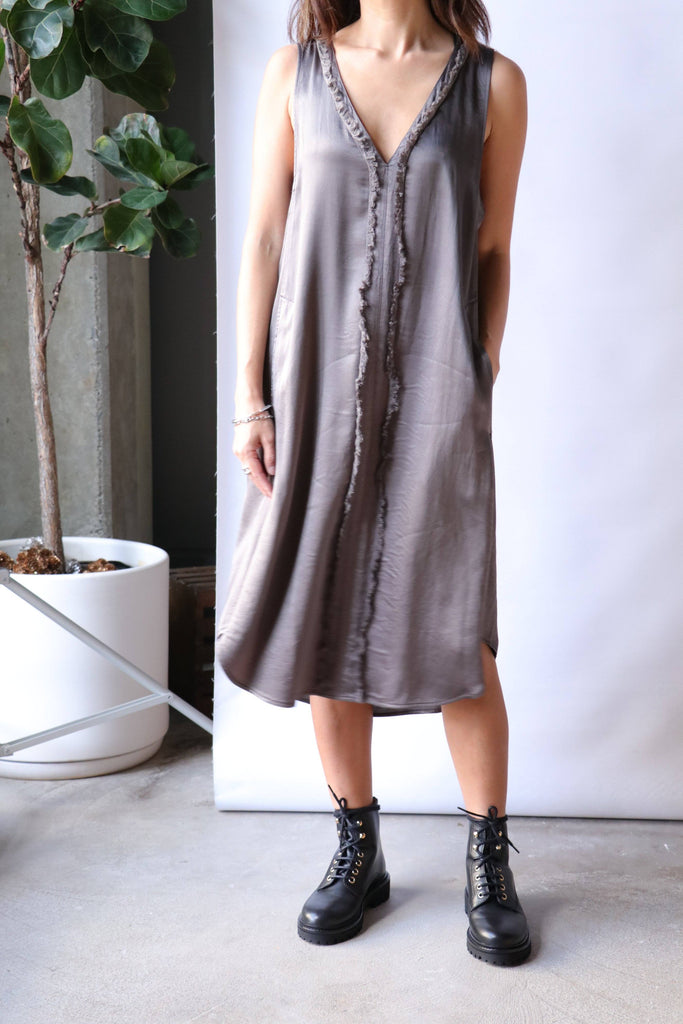 Raquel Allegra Day and Night Dress in Dark Moss Dresses Raquel Allegra