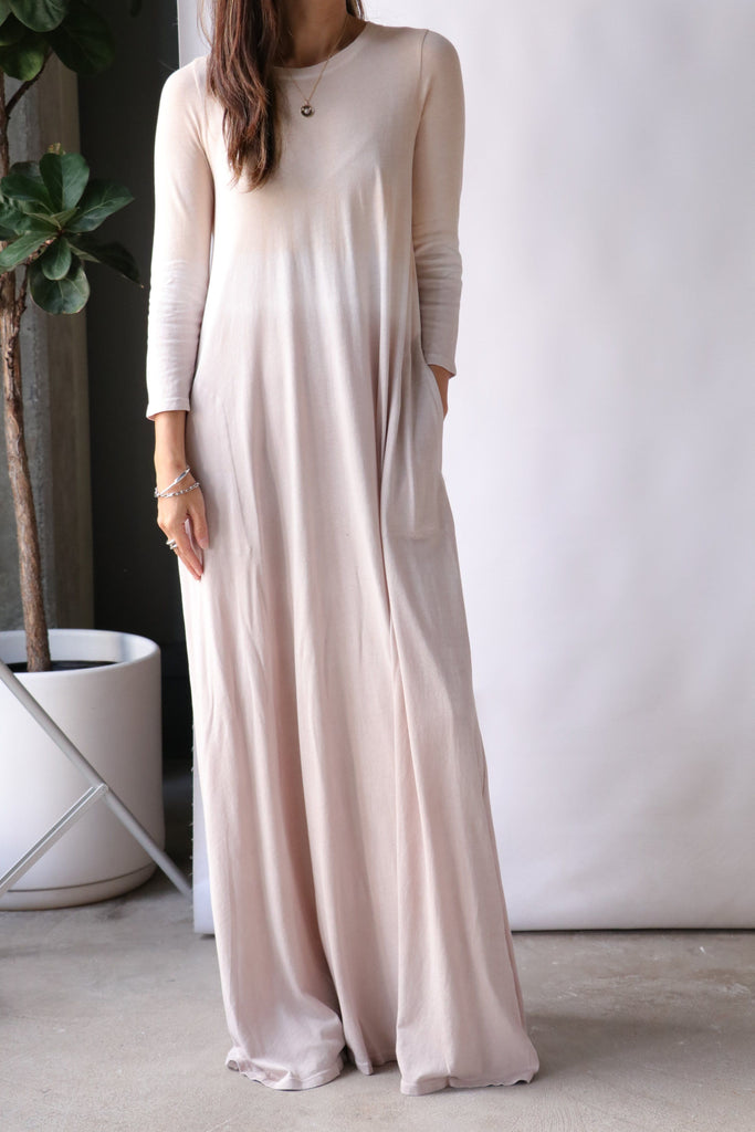 Raquel Allegra Drama Maxi in Gold Horizon Dresses Raquel Allegra