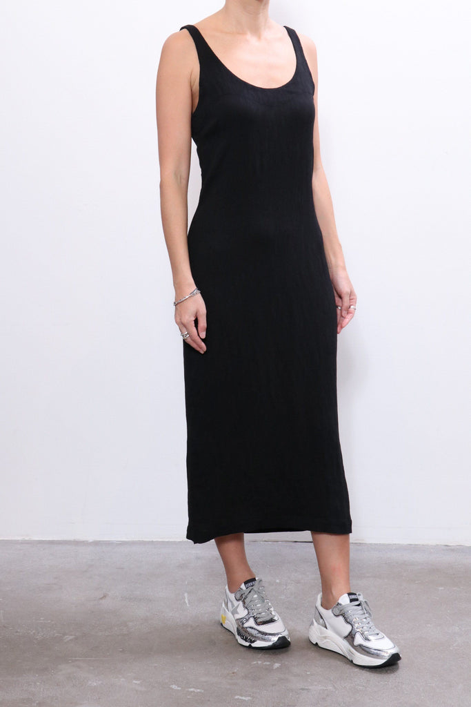 Raquel Allegra Easy Tank Dress in Black