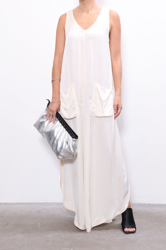 Raquel Allegra Grosgrain Maxi in Cream