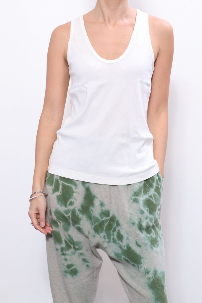 Raquel Allegra New Perfect Tank in Washed White