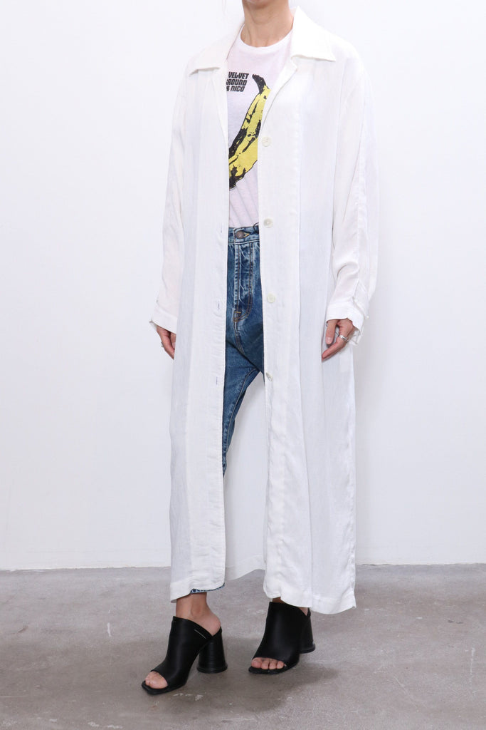 Raquel Allegra Relaxed Trench in Washed White
