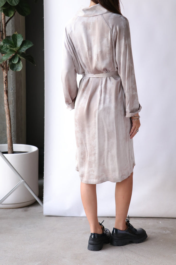 Raquel Allegra Robe Dress in Silver Cloudwash Dresses Raquel Allegra