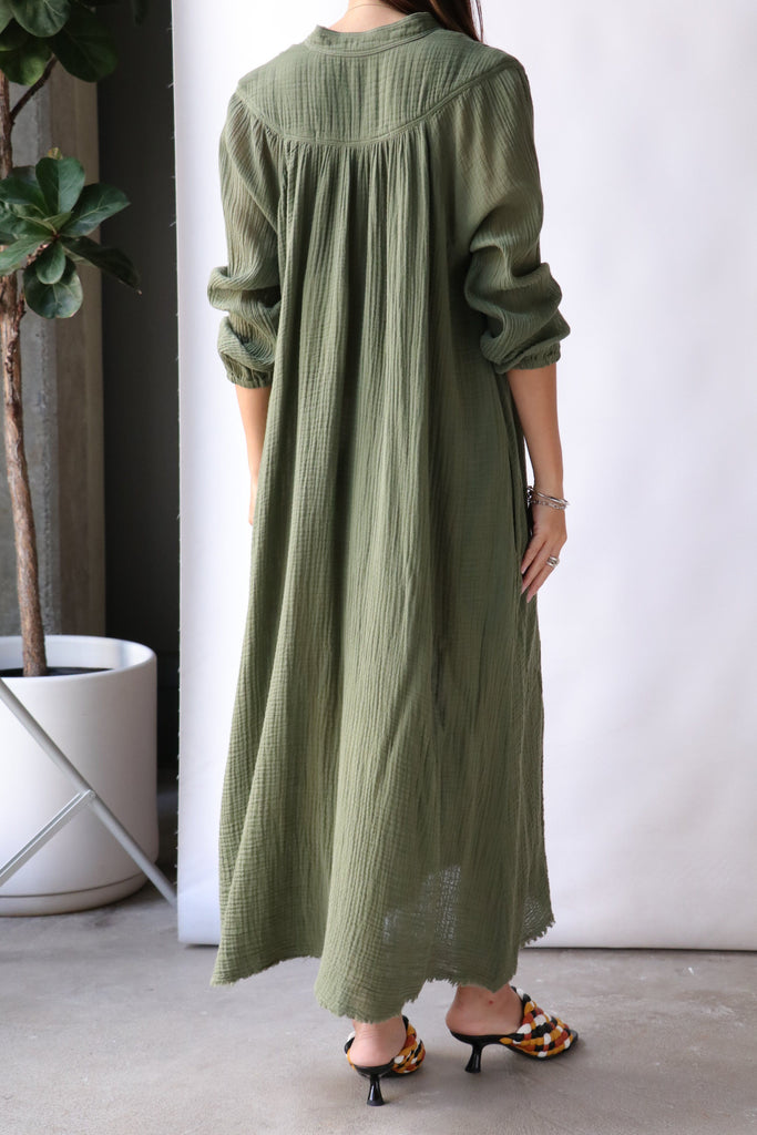 Raquel Allegra Serenity Dress in Army Dresses Raquel Allegra