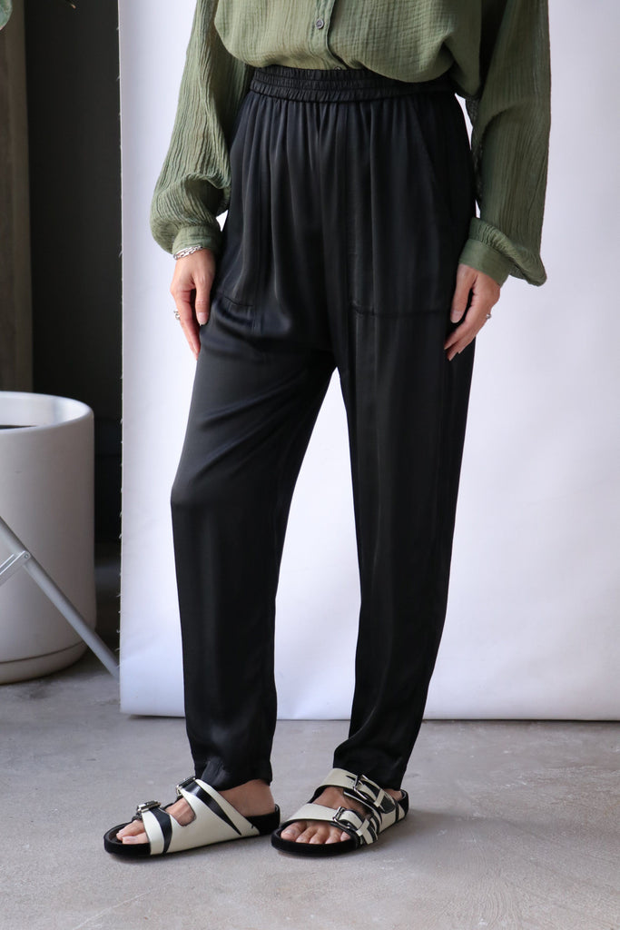 Raquel Allegra Sunday Pant in Black Bottoms Raquel Allegra