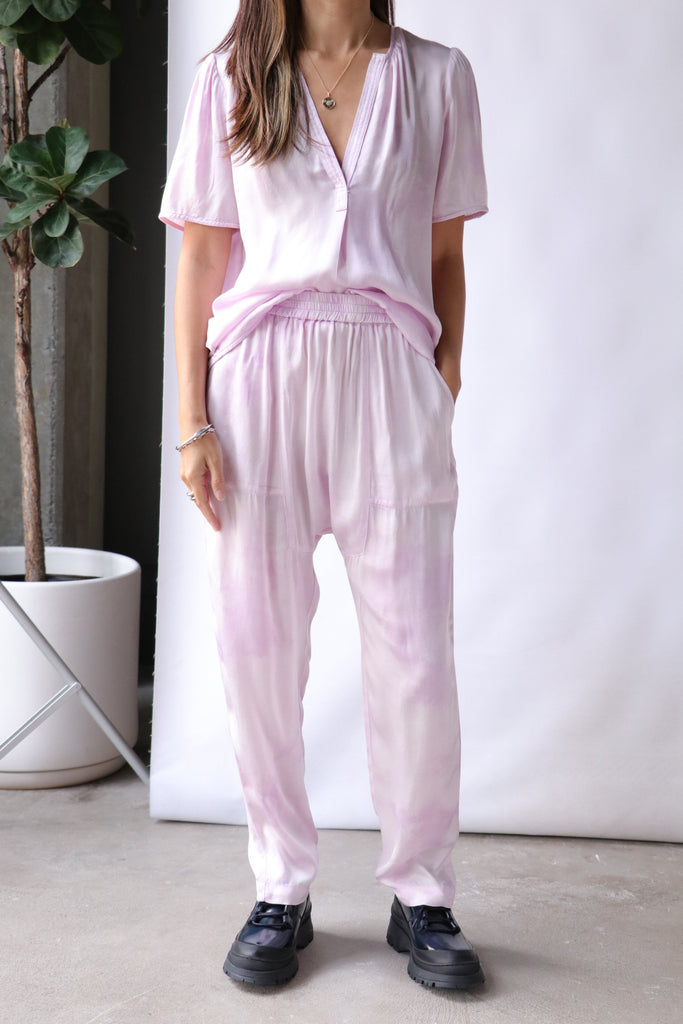 Raquel Allegra Sunday Pant in Lavender Cloudwash Bottoms Raquel Allegra