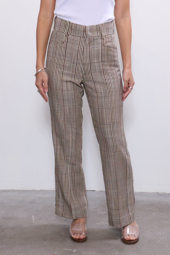 Re/done 70s Plaid Trouser