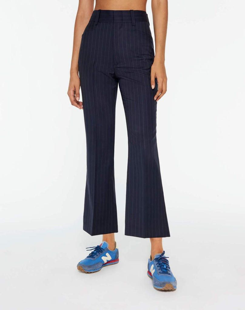 RE/DONE 70s Trouser in Navy Pinstripe