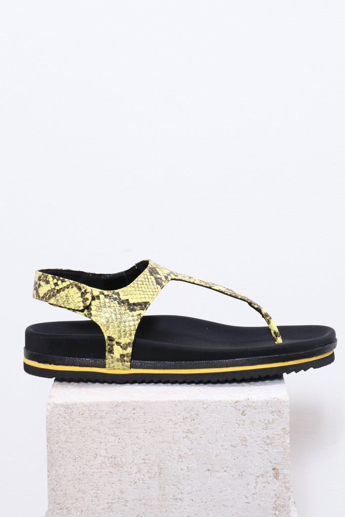 Roam Bora Sandals in Yellow - WE ARE ICONIC