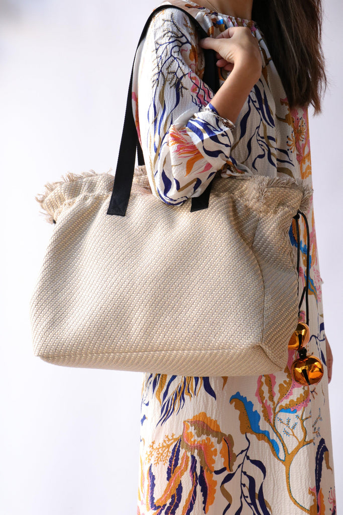 Rodebjer Quinn Straw Tote Accessories Rodebjer