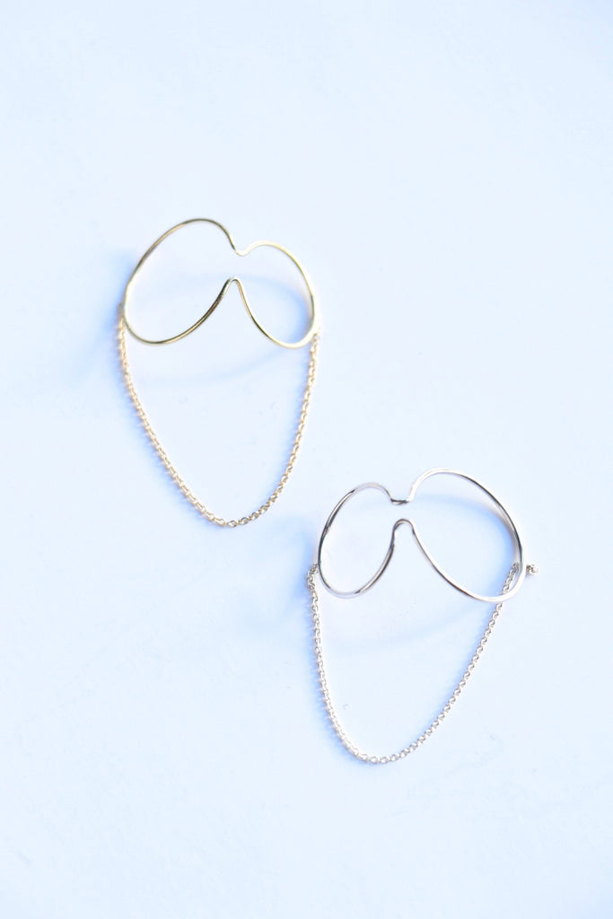 Saskia Diez X Wire Ear Cuff Double No2 Chained Jewelry Saskia Diez