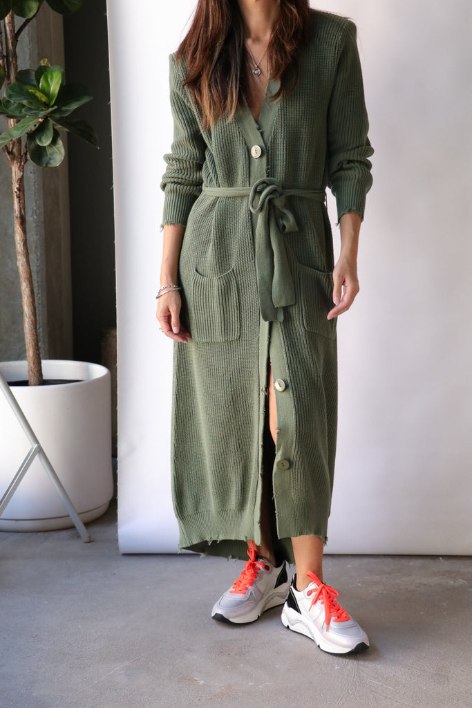 Ser.o.ya Amanda Sweater Dress in Olive Dresses Ser.o.ya