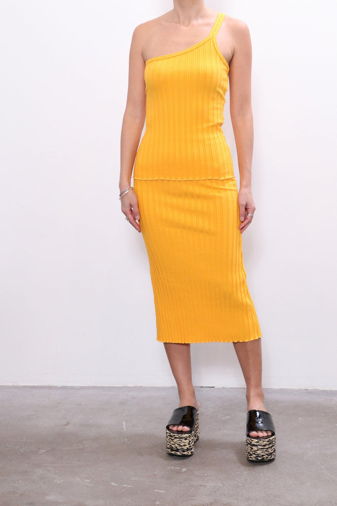Simon Miller Mayer Skirt in Sunset Orange