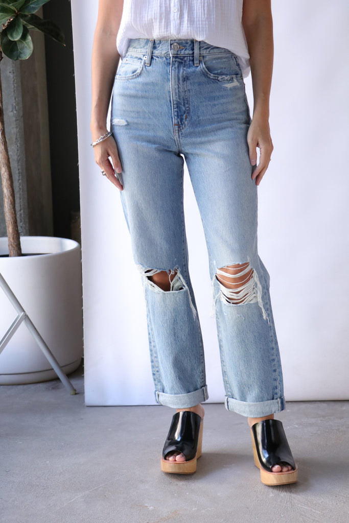 Slvrlake Dakota Denim in Long Time Coming Bottoms Slvrlake Denim
