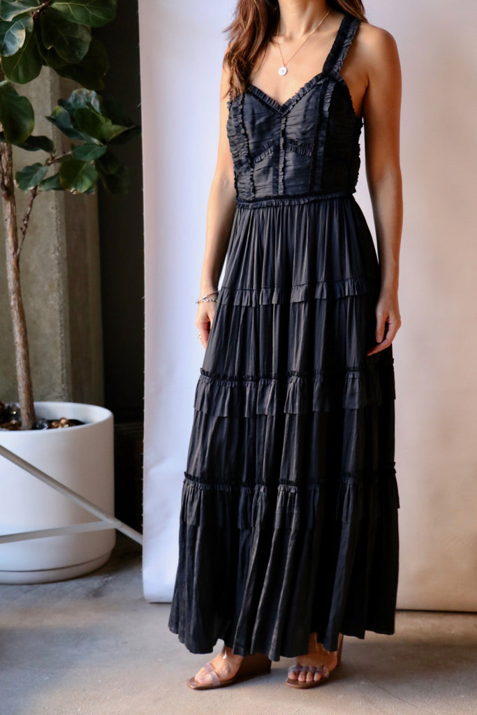 Ulla Johnson Gwynne Dress in Midnight Dresses Ulla Johnson