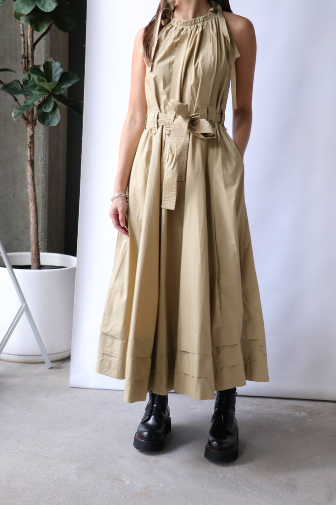 Ulla Johnson Joni Dress in Khaki Dresses Ulla Johnson