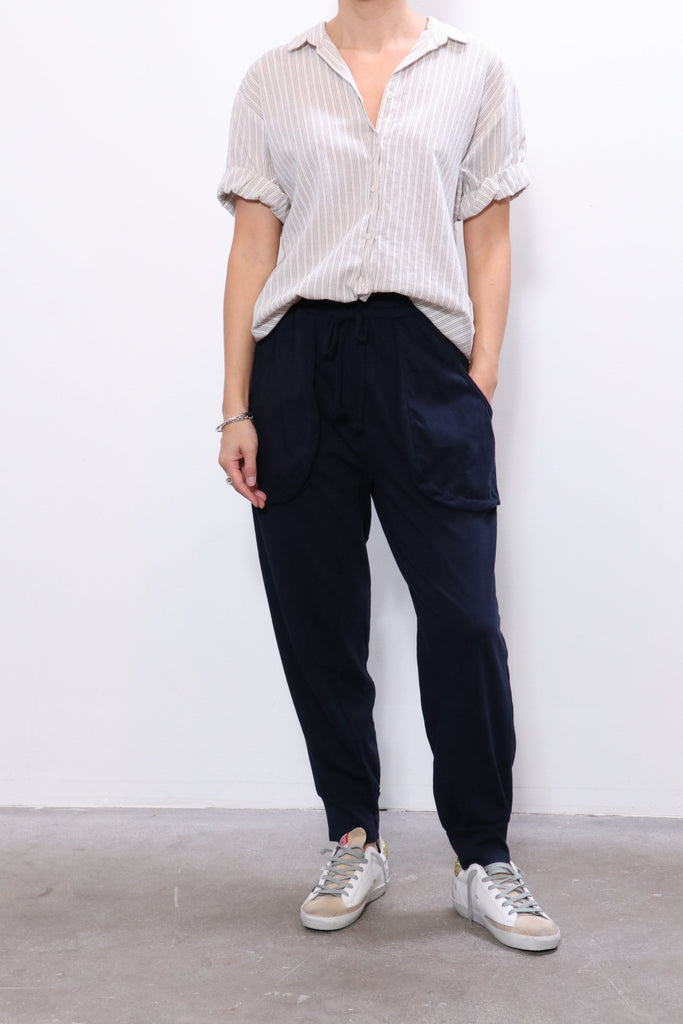 Xirena Leighton Jersey Pant in Tattered Blue