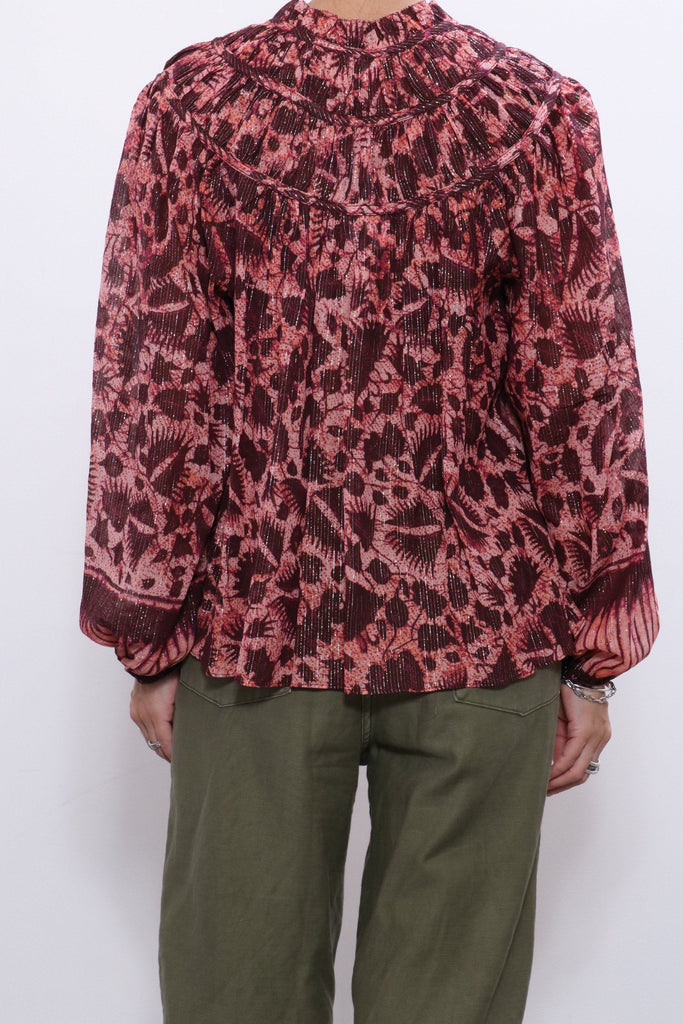 Ulla Johnson Yulia Blouse in Bordeaux
