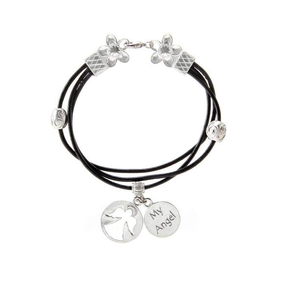 Angel Bracelet w/ leather BG-81