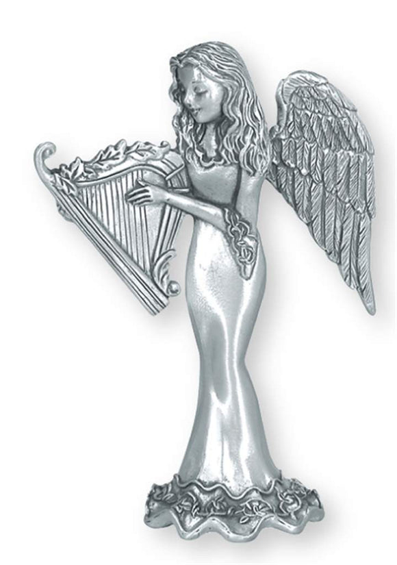 Angel w/ Harp Standing Ornament SO-42