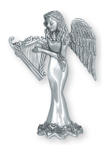 Angel w/ Harp Standing Ornament