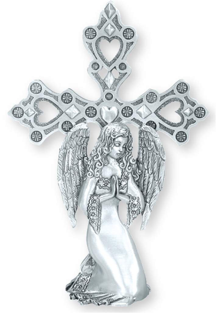 Angel W/Cross Standing Ornament SO-45