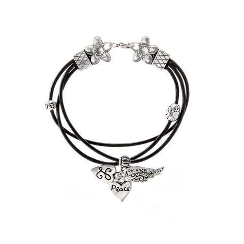 Angel Wings Bracelet Leather