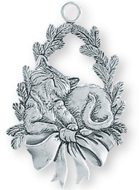 Cat / Wreath Ornament SC-304
