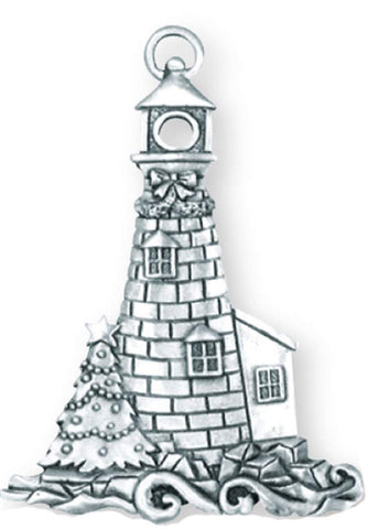Christmas Lighthouse Ornament