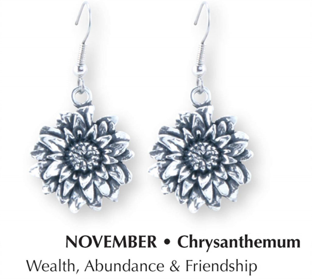 Chrysanthemum earrings DD-76