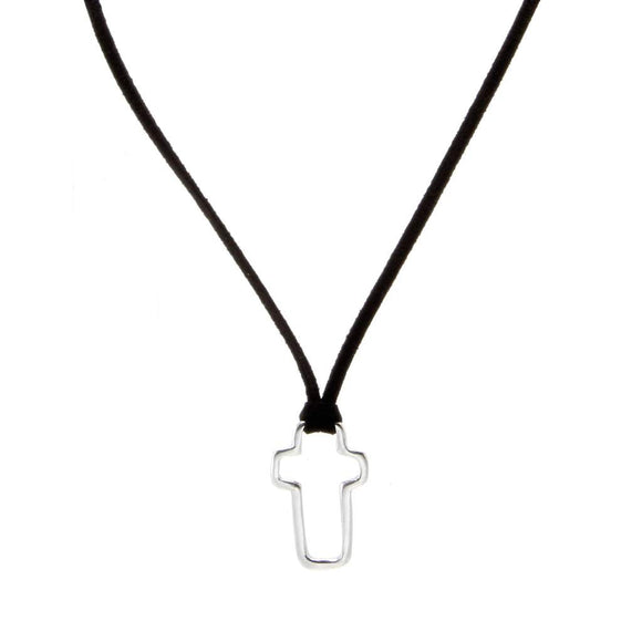 Cross Pendant Suede PD-155