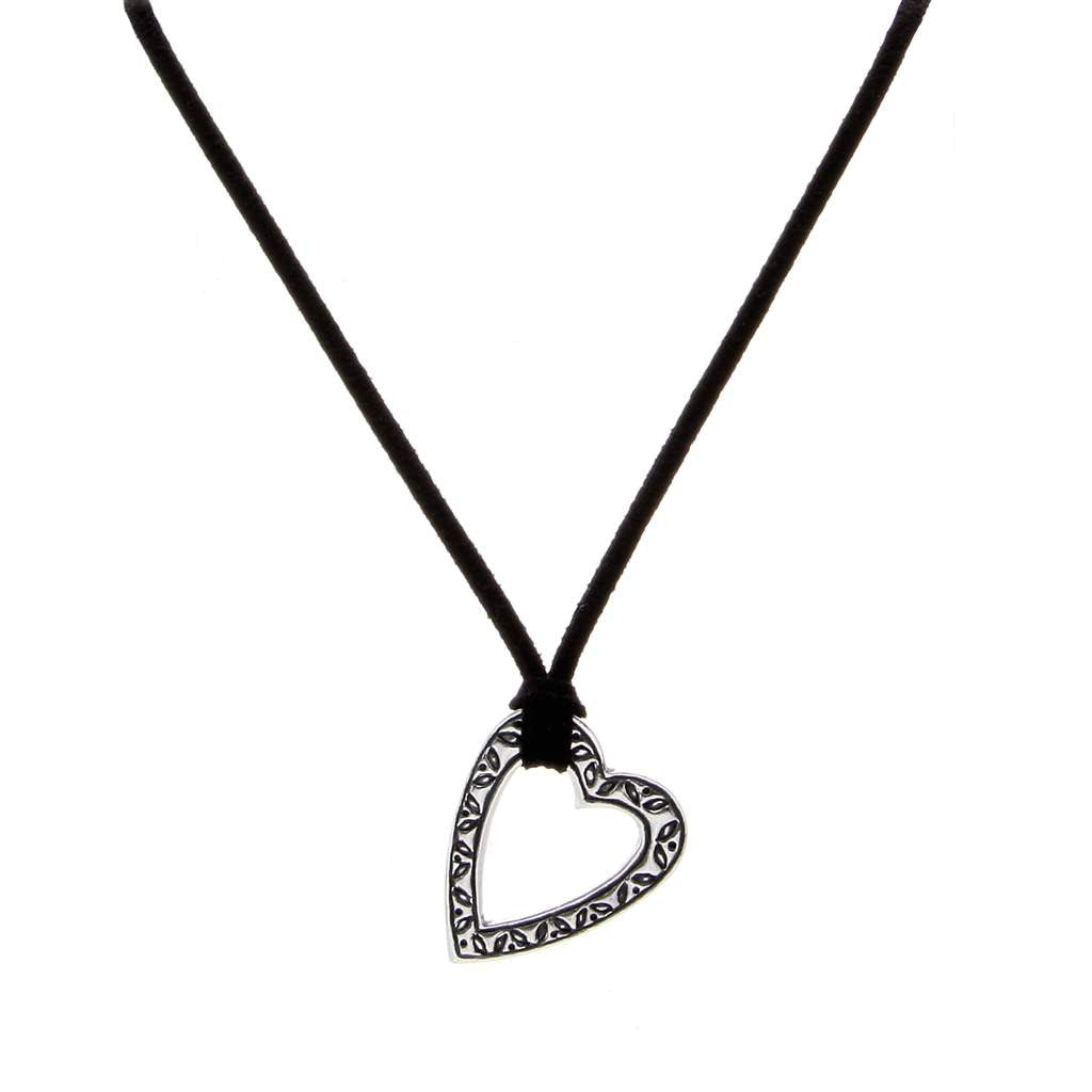 Design Heart Pendant Suede PD-152