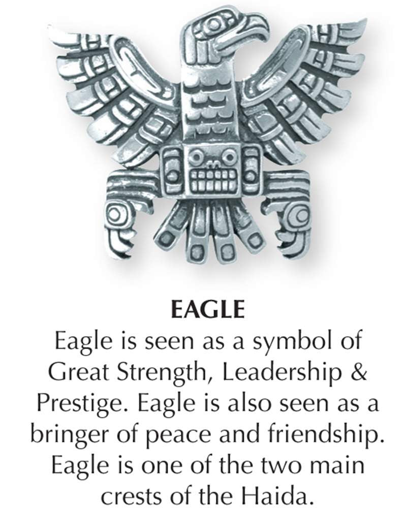 Haida Eagle Jewellery pin