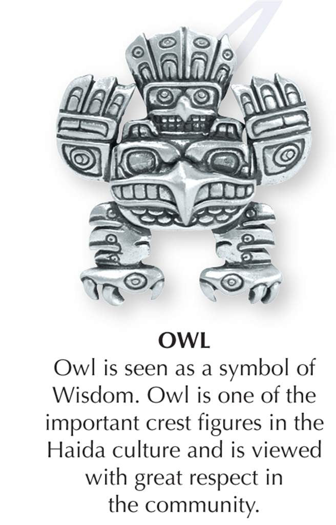 Haida Owl Jewellery Pin