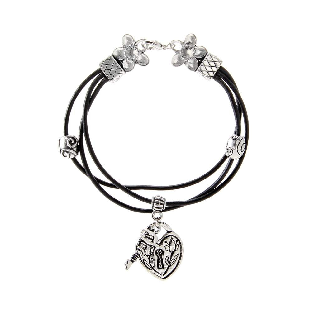Key to my Heart Bracelet Leather