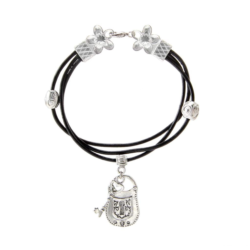 Lock & Key Bracelet Leather BG-89