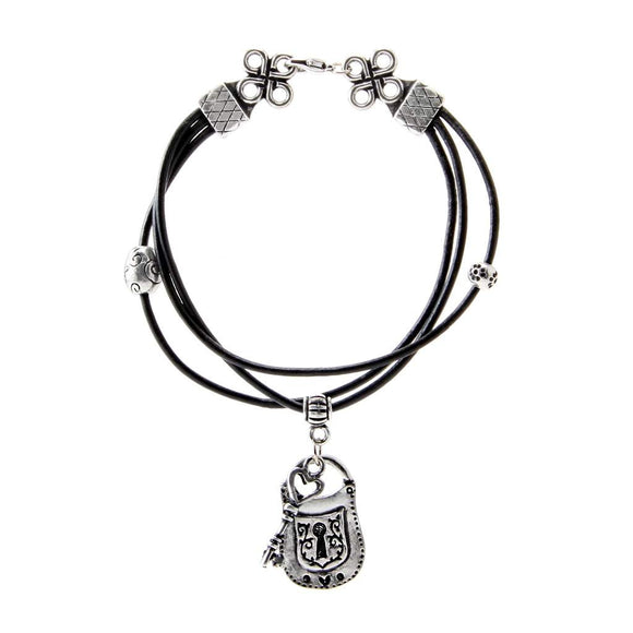 Lock & Key Bracelet Leather BG-79