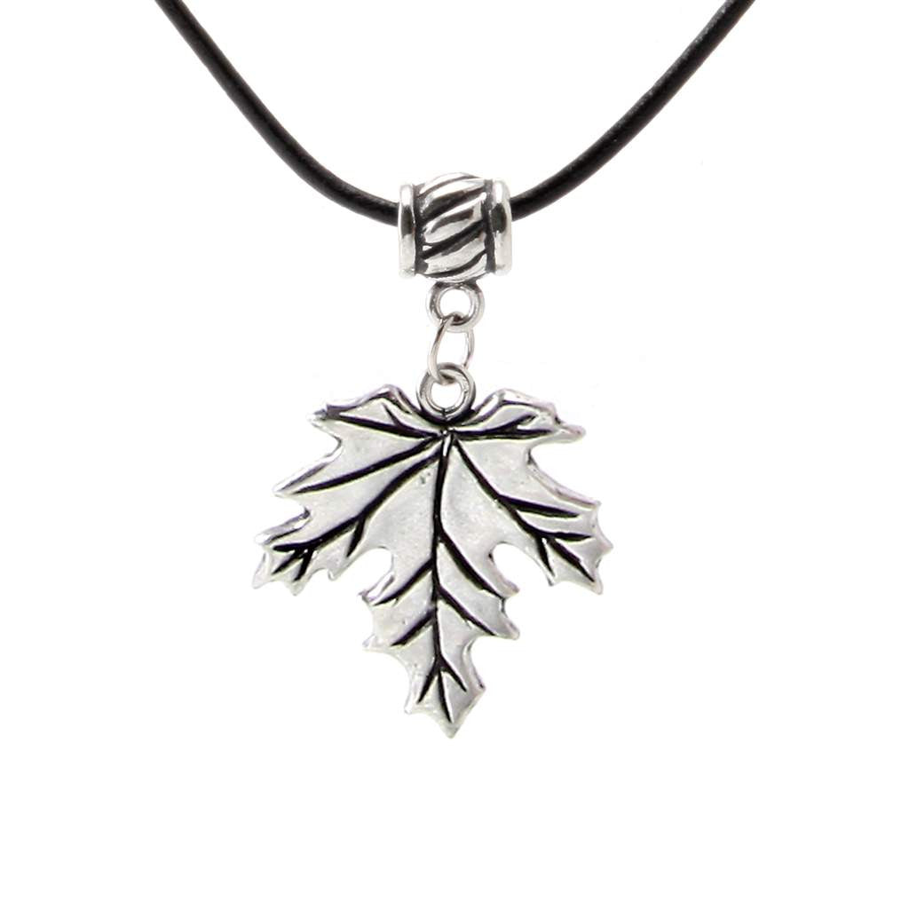 Maple Leaf Pendant w/ Leather PD-108