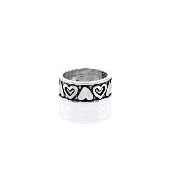 Hearts Lg Band Ladies Ring R009