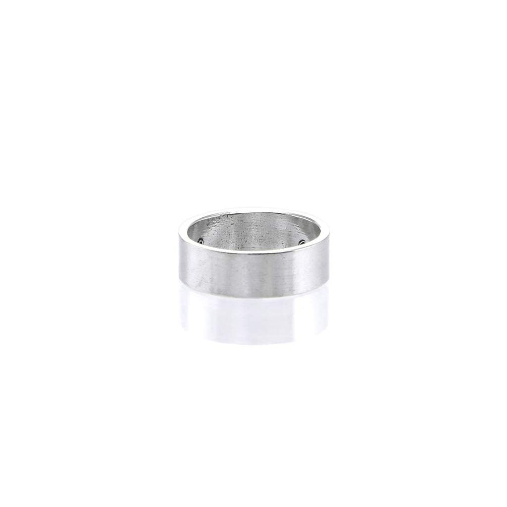 Plain Flat Mens Ring R020