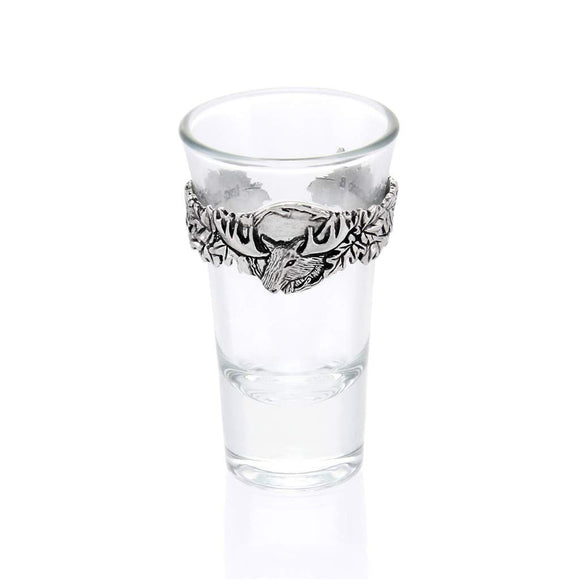 Moose/Leaves Shot Glass SG005