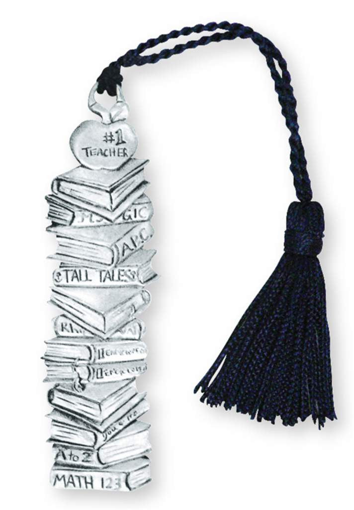 #1 TEACHER TASSEL BOOKMARK