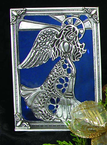 Angel Stained Glass Tealight Screen