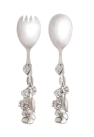 Apple Blossom Salad Server Set